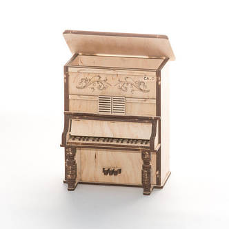 """Развивающий деревянный конструктор 3D пазл """"Пианино-2"""" (оригинальная сборная объемная модель из дерева), фото 2"""