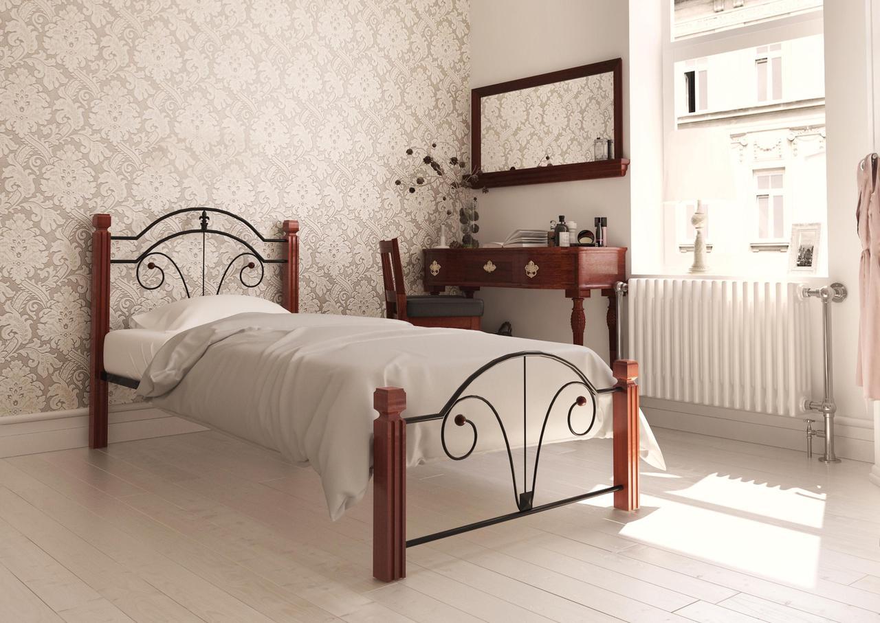 Кровать Диана Мини 90*200 деревянные ножки (Металл дизайн)