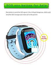 Детские умные часы телефон трекер Smart Baby Watch Q528 c сенсорным цветным экраном и фонариком (синие), фото 3