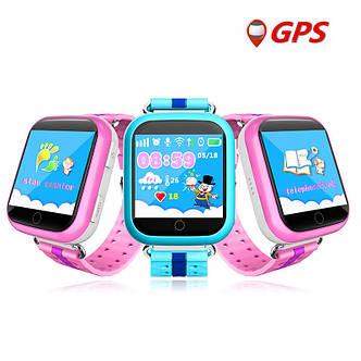 Детские умные GPS часы телефон трекер Smart Baby Watch Q750 c сенсорным экраном, Wi-Fi и играми (синие), фото 2