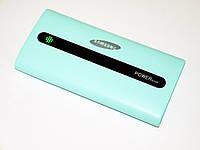 Портативная Зарядка (Power Bank) Samsung 30000 mAh - 3xUSB - Ментоловый (Реплика), фото 1