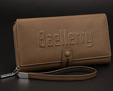 Мужской клатч портмоне  Baellerry Guero на кнопке (коричневый), фото 2