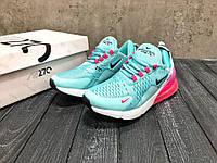 Кроссовки женские Nike Air Max 270 код товара Z-1465. Мятные с розовым