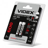 Аккумуляторы Videx HR03/AAA 600mAh double blister/2шт