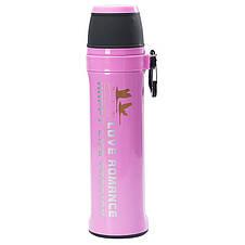Термос спорт бутылка Love Romance Sport с чашкой и карабином 500 мл розовый, фото 3