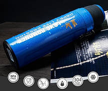 Термос спорт бутылка Love Romance Sport с чашкой и карабином 500 мл черный, фото 2