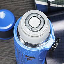 Термос спорт бутылка Love Romance Sport с чашкой и карабином 500 мл черный, фото 3