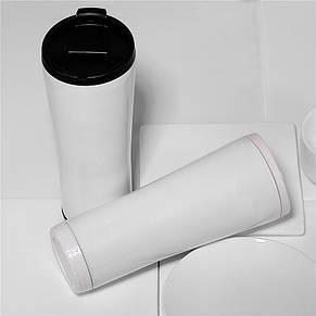 Термокружка тамблер New Version 2 - 480 мл белая, фото 2