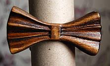 Деревянная бабочка галстук 3D Мулат - 1 ручной работы, серия Зиррикот, фото 3