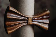 Деревянная бабочка галстук 3D Мулат - 1 ручной работы, серия Зиррикот, фото 2