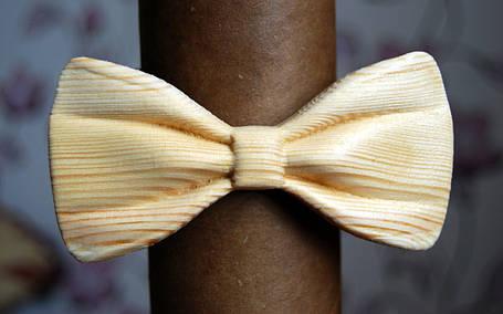 Деревянная бабочка галстук 3D Альбинос - 1 ручной работы, серия Зиррикот, фото 2