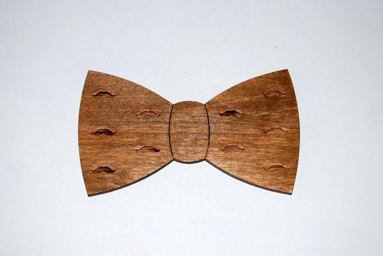 Деревянная бабочка галстук Класика Усиков ручной работы