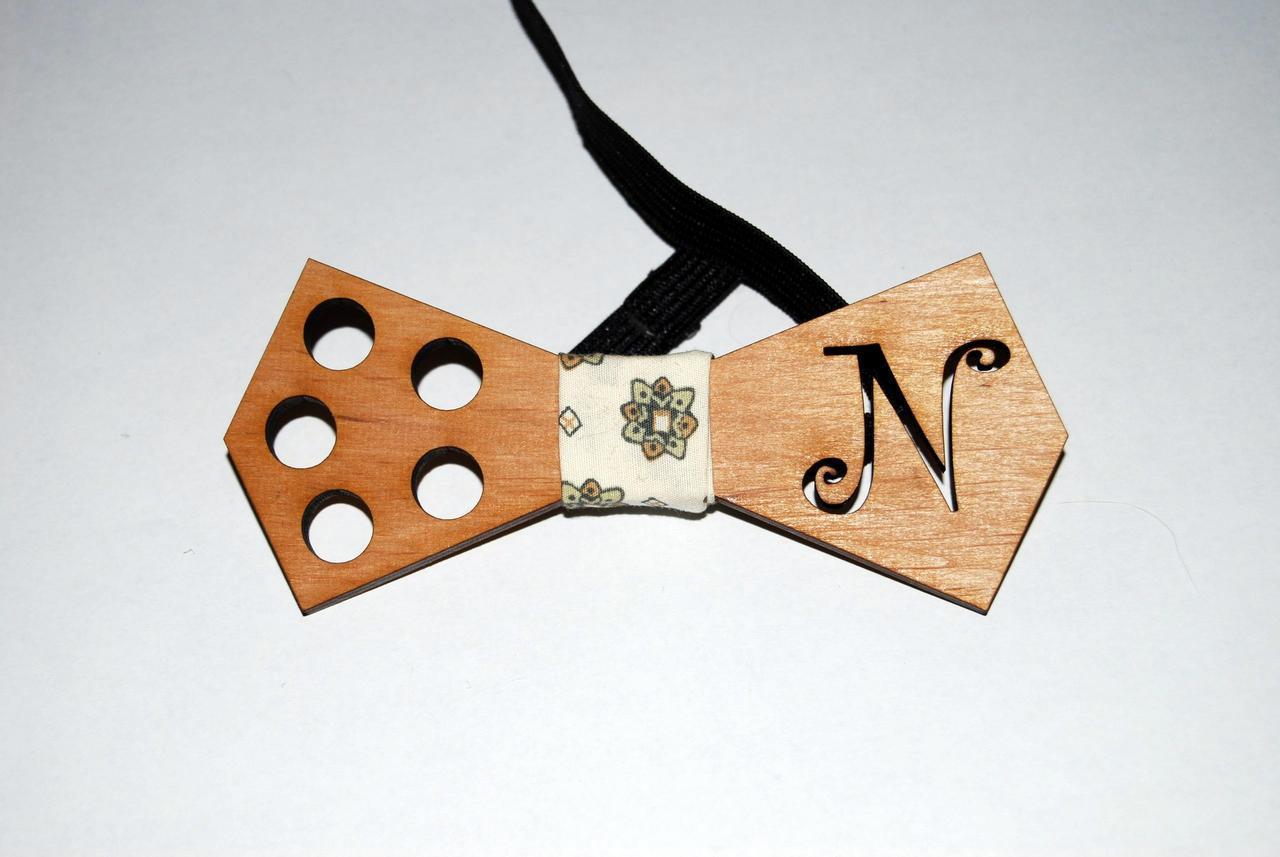 Деревянная бабочка галстук N ручной работы