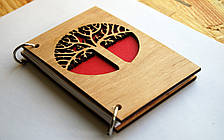 """Деревянный блокнот """"Древо"""" ручной работы формат А5 (А6 под заказ), фото 3"""
