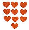 Медные сердечки сердца с глиттером (блестками) аппликации из фоамирана Латекса заготовки 3.8 см 10 шт/уп