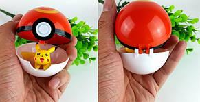 Комплект покебол-покешар + игрушка (Пикачу), фото 2