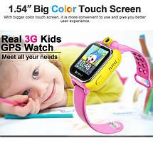 Детские умные GPS часы Smart Baby Watch Q10 (G75) с трекером 3G отслеживания и камерой цветной экран (желтые), фото 3