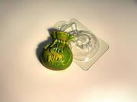Форма пластиковая для мыла Мешок Долларов