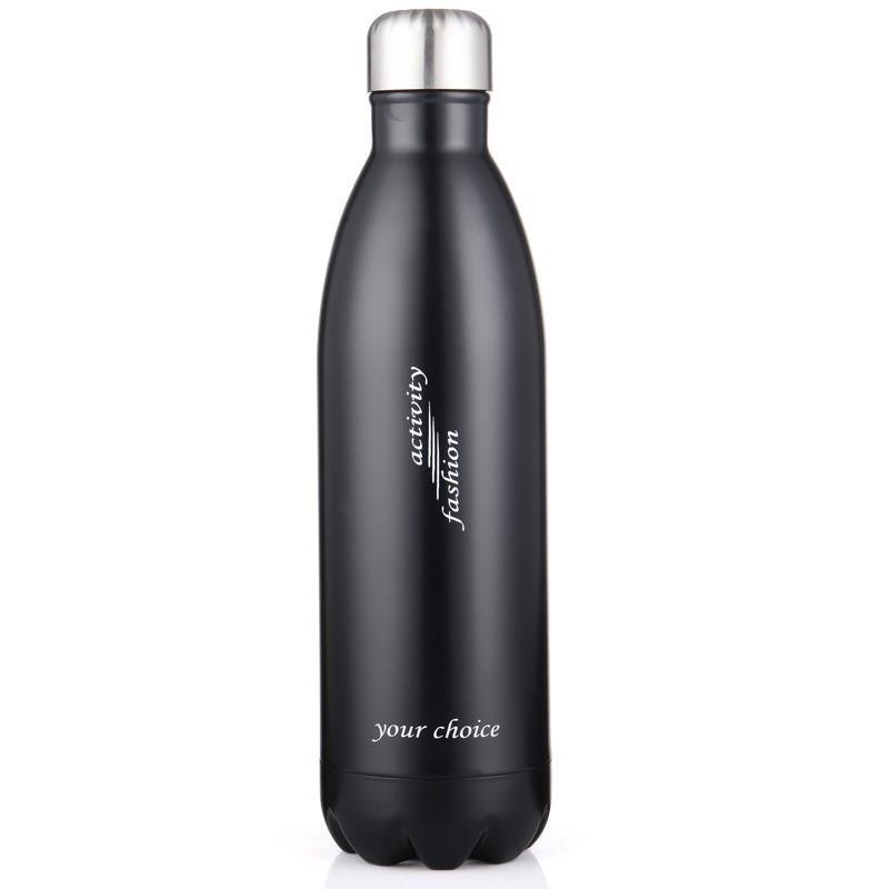 Термос спорт бутылка S'Well Sport глянцевая с надписями 500 мл черный
