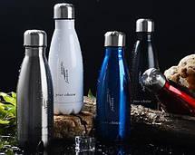 Термос спорт бутылка S'Well Sport глянцевая с надписями 500 мл черный, фото 3