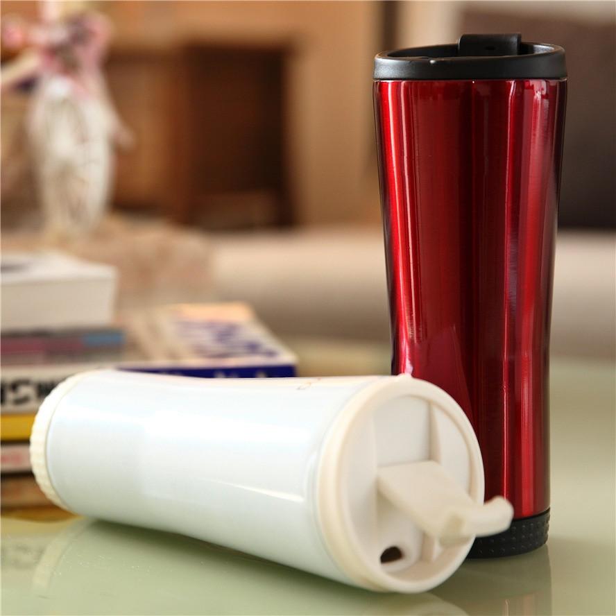 Термокружка тамблер New Version 2 - 480 мл красная
