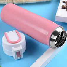 Термос для холодных и горячих напитков 500 мл розовый, фото 2