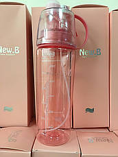 Спортивная фитнес спреер Бутылка New B. Green ( New Button Bottle) 600 мл с распылителем, шкалой и дозатором , фото 2
