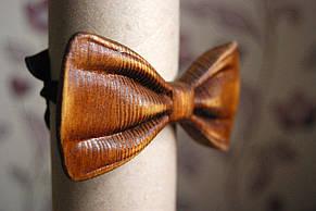 Деревянная бабочка галстук 3D Мулат ручной работы, серия Зиррикот, фото 2