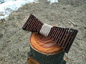 Деревянная бабочка галстук Дорожка ручной работы, серия Flexion, фото 2