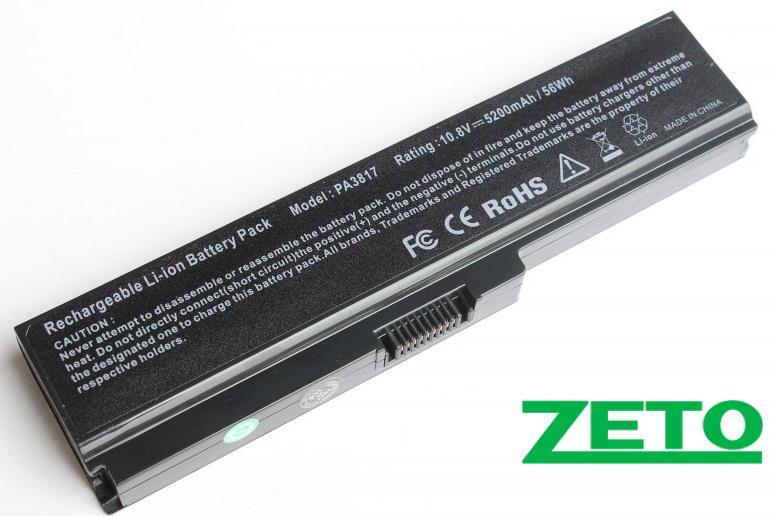 Батарея (аккумулятор) TOSHIBA PA3817U-1BAS (10.8V 5200mAh)