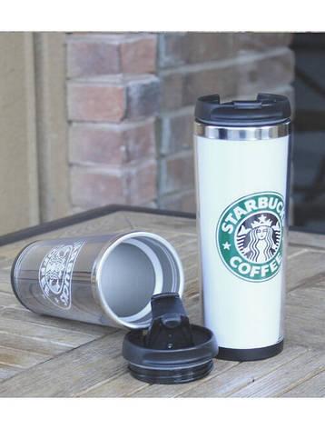 Термокружка тамблер Starbucks (Старбакс) 380 мл Черный, фото 2