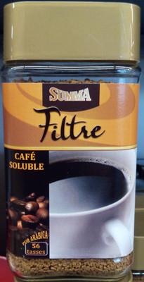 Натуральный растворимый кофе Cafe Soluble Summa Filtre 100 г.