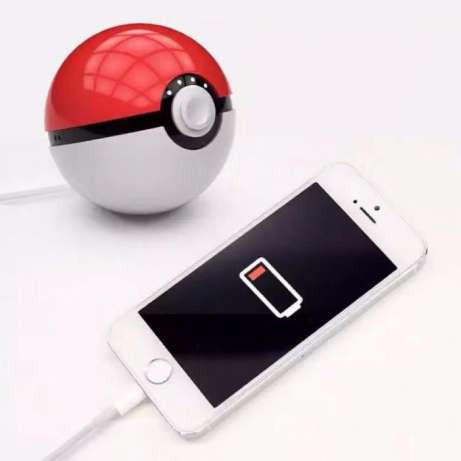 Павербанк Покебол внешний аккумулятор Power Bank (Покешар, Pokeball) 12000 mah для фанатов игры Pokemon Go