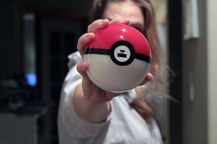 Павербанк Покебол внешний аккумулятор Power Bank (Покешар, Pokeball) 12000 mah для фанатов игры Pokemon Go, фото 2
