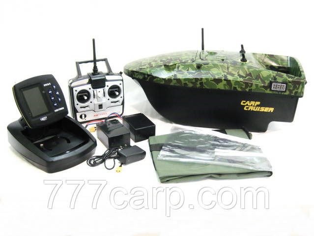 Кораблик для прикормки CarpCruiser Boat СF9 с цветным эхолотом LUCKY FF918CWL для карповой ловли, для рыбалки
