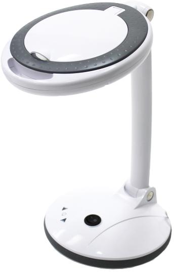 Лампа лупа для наращивания ресниц 2028-F 3+12D LED с регулировкой яркости, настольная