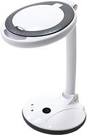Лампа-лупа для наращивания ресниц 2028-F 3+12D LED с регулировкой яркости, настольная