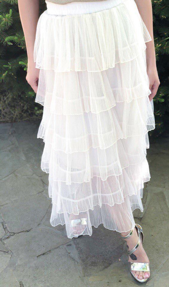 Воздушная  красивая многослойная юбка из фатина