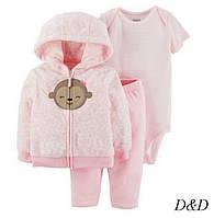 """Детский комплект одежды тройка для девочки кофта штаны боди на 12 месяцев Carter""""s"""