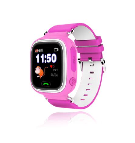 """Детские умные GPS часы Smart Baby Watch Q60 с трекером отслеживания цветной экран 1"""" (розовые), фото 2"""