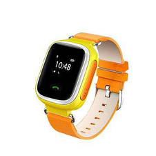 """Детские умные GPS часы Smart Baby Watch Q60 с трекером отслеживания цветной экран 1"""" (оранжевые), фото 3"""
