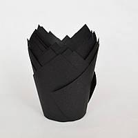Капсула для кексов (тюльпан черный) (10 шт.)