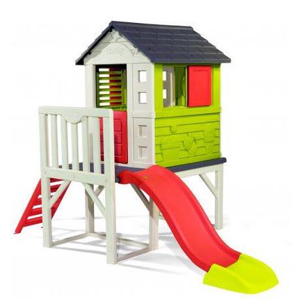 Детский домик с горкой Smoby 810800. Домик для детей