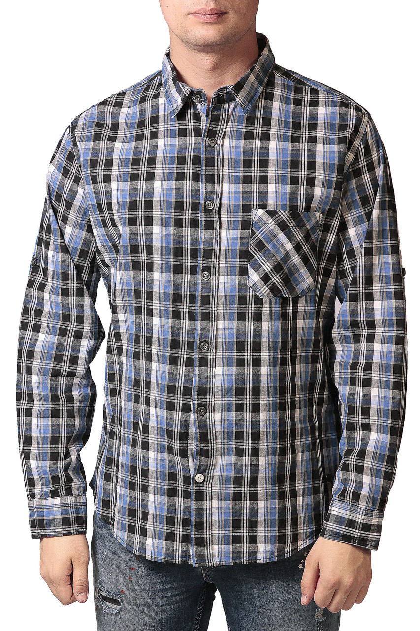 Рубашка мужская River Island голубая
