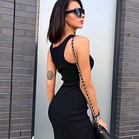 Платье чёрное трикотажное, фото 1