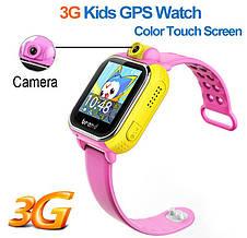 Детские умные GPS часы Smart Baby Watch Q10 (G75) с трекером 3G отслеживания и камерой цветной экран (розовые), фото 3