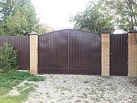 Распашные ворота из профлиста 3000х2000