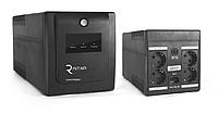 ИБП Ritar RTP1000 (600W) Proxima-L ЛЕД AVR 3st 4xSCHUKO socket 2x12V7Ah plastik Case Q2 Черный