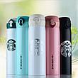Термос Starbucks New (Тамблер Старбакс) удлиненный 500 мл черный, фото 4