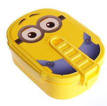 """Стильный контейнер для обедов Ланч бокс """"Миньон"""" с ложечкой в комплекте, фото 3"""